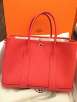 HERMES Garden Party Rouge Pivoine/SHW Negonda Leather 30 Small Bag