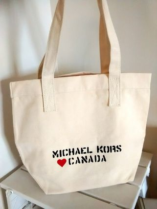 f9cd5589ec107 Michael Kors Limited Edition RARE  MK Cotton Canvas Tote Bag CANADA ...