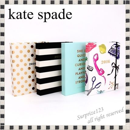 Kate Spade pocketbook calendar hard cover large size