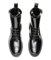 H&M Plain Toe Collaboration Plain Leather Engineer Boots