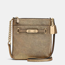 Coach Metallic Swagger Swing Pack Shoulder Bag (Gold/Cherry/Blue)