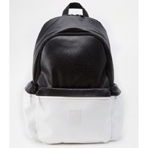 adidas Faux Fur Street Style A4 Bi-color Plain Backpacks
