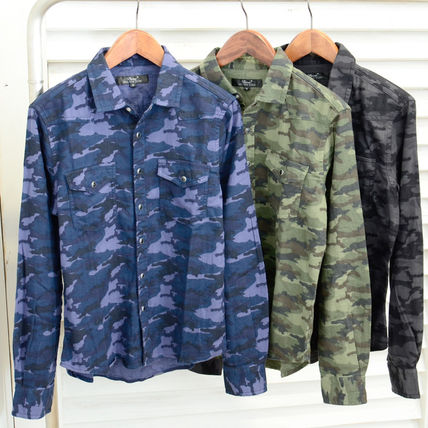 Camouflage Street Style Long Sleeves Shirts