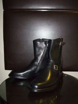 Saint Laurent Street Style Leather Engineer Boots