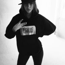 PIGALLE Unisex Long Sleeves Cotton Hoodies