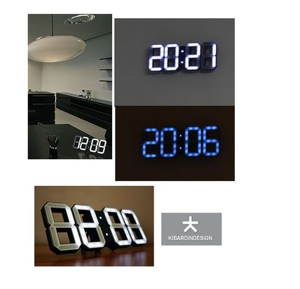 Only the numbers simple digital LED watch White &White Black