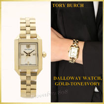 Tory Burch Square Quartz Watches Stainless Analog Watches