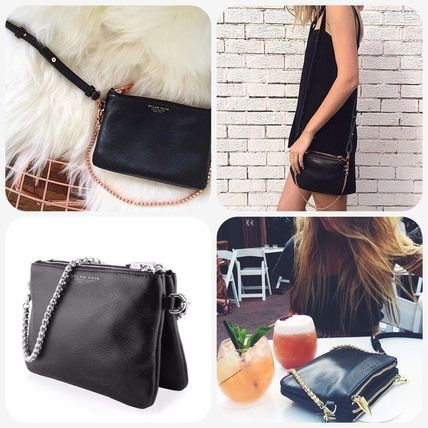 3WAY Leather Elegant Style Shoulder Bags