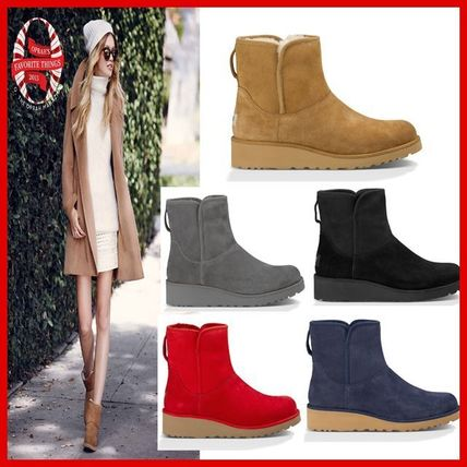 ... UGG Australia Wedge Fur Plain Wedge Boots ...