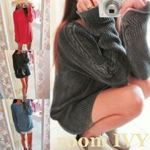 room IVY Cable Knit Argile U-Neck Long Sleeves Cotton Medium Knitwear