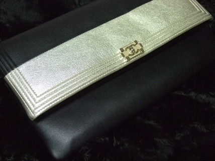 CHANEL Clutches Leather Clutches 3