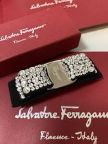 Salvatore Ferragamo Barettes Handmade With Jewels Elegant Style Hair Accessories