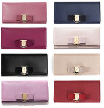 Salvatore Ferragamo Leather Long Wallets