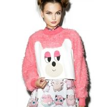 LAZY OAF Lazy Oaf ∞ Bear With Me Faux Fur Sweatshirt