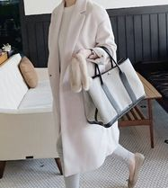 Wool Plain Long Office Style Oversized Chester Coats