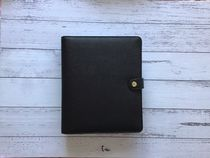 Kikki K Leather Planner A5-size /Black/ Saffiano Leather