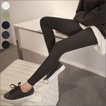 Street Style Plain Cotton Long Skinny Pants