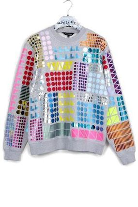 Crew Neck Tropical Patterns Street Style Long Sleeves Cotton