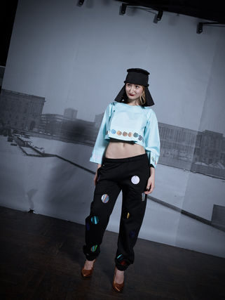 Printed Pants Dots Street Style Cotton Patterned Pants