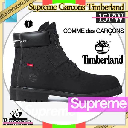 Supreme Street Style Collaboration Logo Shoes
