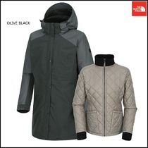 THE NORTH FACE Stripes Wool Plain Long Jackets