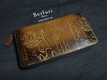 Berluti Unisex Leather Long Wallets