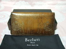 Berluti Leather Long Wallets