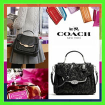 Coach MADISON Black Leopard Print Chanille Ocelot Small Satchel Bag