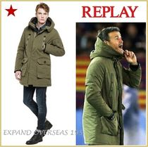 REPLAY Monoglam Plain Long Parkas