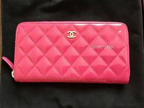 CHANEL TIMELESS CLASSICS Plain Leather Long Wallets