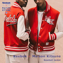 MAISON KITSUNE Unisex Collaboration Varsity Jackets
