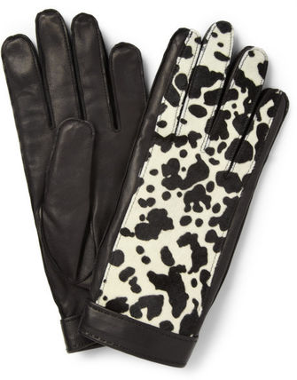 BURBERRY PRORSUM Other Animal Patterns Leather Leather & Faux Leather Gloves