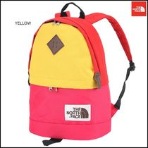 THE NORTH FACE Stripes Nylon Street Style 2WAY Plain Backpacks