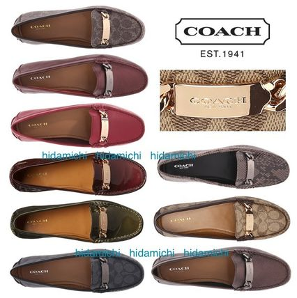 Coach Plain Leather Flats