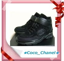 CHANEL Blended Fabrics Sneakers