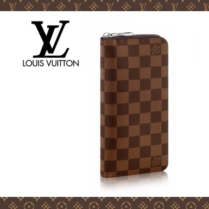 Louis Vuitton Long Wallets Other Check Patterns Leather Long Wallets