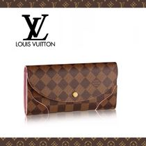 Louis Vuitton Other Check Patterns Leather Long Wallets