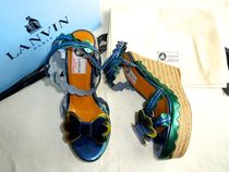 LANVIN Open Toe Other Animal Patterns Leather