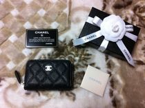 CHANEL Unisex Leather Coin Cases