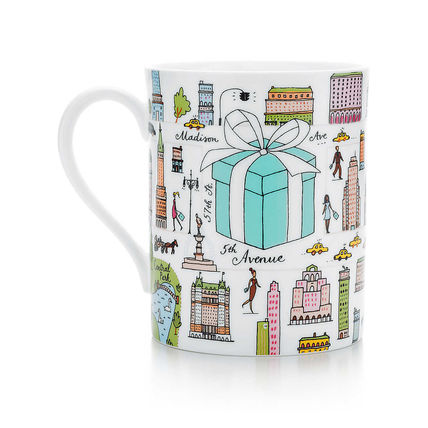 Tiffany mug NY Fifth Avenue Street Limited Edition design