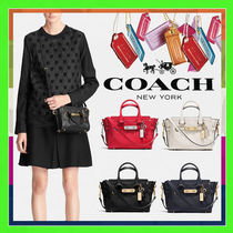 Coach SWAGGER 2WAY Plain Leather Handbags