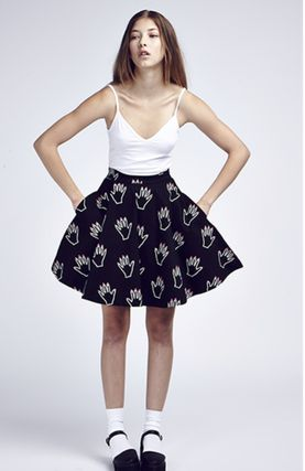 Flared Skirts Street Style Other Animal Patterns Cotton