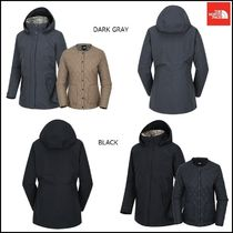 THE NORTH FACE Glen Patterns Wool Street Style Plain Long Jackets