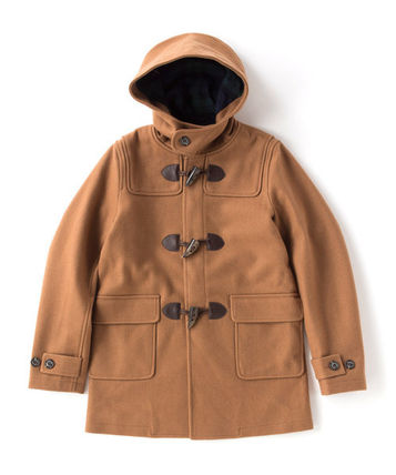FRED PERRY Wool Street Style Plain Duffle Coats