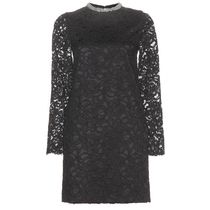 Saint Laurent SAINT LAURENT Embellished lace dress black