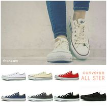 CONVERSE ALL STAR Rubber Sole Unisex Plain Low-Top Sneakers