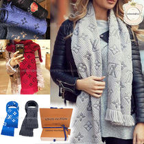 Louis Vuitton Monogram Wool Elegant Style Lightweight Scarves & Shawls