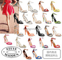 Steve Madden Leather Pin Heels Party Style Heeled Sandals
