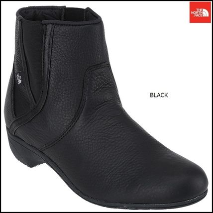 THE NORTH FACE Ankle & Booties Argile Round Toe Street Style Plain Leather Block Heels
