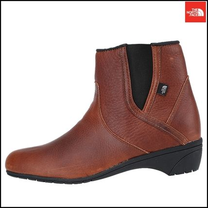 THE NORTH FACE Ankle & Booties Argile Round Toe Street Style Plain Leather Block Heels 12